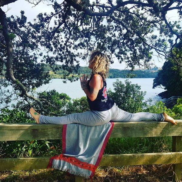 Premaloka doing Yoga